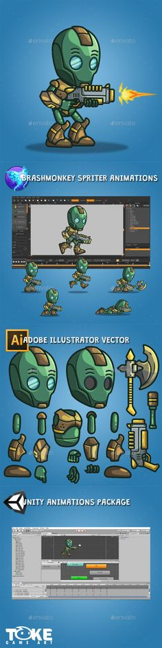 Evil Bot — Vector EPS #unitypackage #enemy • Available here → https://graphicriver.net/item/evil-bot/18178760?ref=pxcr