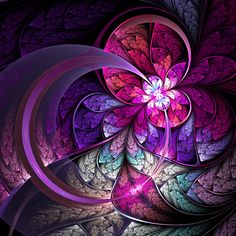 """""""Fly"""" by lucid-light; Digital Raw Fractal Art - purple is my favourite colour :)"""