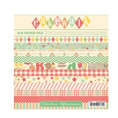 October Afternoon - Cakewalk Collection - 8 x 8 Paper Pack at Scrapbook.com $12.74