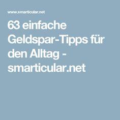 63 einfache Geldspar-Tipps für den Alltag - smarticular.net