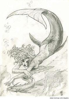Illustration mermaid