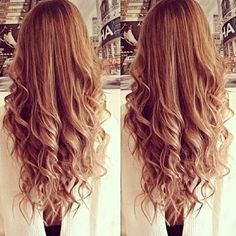 Air dry your hair until damp, twirl the ends, clip them up, and go to sleep.  The next morning, uncoil the curls, soften them with a comb, and straighten the top section.  Looks super pretty, and no damage to the ends!!