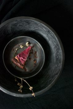 Dark Chocolate Brownie Cake with Raspberry Goat Cheese Swirl (egle)