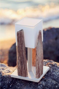 This light and timeless lamp provides a touch of scandinavian style. Asymmetric driftwood point the pureness of cream color lamp shade. For indoor using.Each G Lighthouse lamp is unique and due to its nature no second alike exists! Great lampHeight 15 inches (38 cm)Base meas. 7.8 x 7.8 (20x20 cm