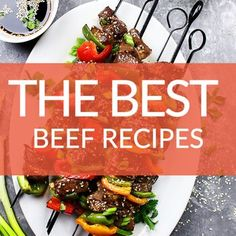 These easy & healthy dinner ideas featuring beef are perfect for busy weeknights. From Honey Garlic Steak Bites to the Best Meatloaf Recipe ever! Stir Fry Zucchini Noodles, Zucchini Noodle Recipes, Best Beef Recipes, Cooking Recipes, Healthy Recipes, Good Meatloaf Recipe, Meatloaf Recipes, Healthy Stir Fry, Steak Bites