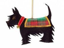Black Scottie Dog Christmas Decoration