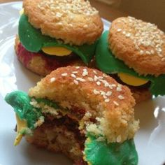 How to make cheese burger cupcakes via @Guidecentral - Visit www.guidecentr.al for more #DIY #tutorials