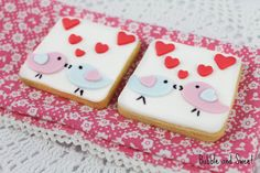 Bubble and Sweet: Are you thinking what I'm thinking Love Bird Valentine Cookies - directions how to decorate