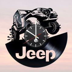 JEEP Handmade Vinyl Record Wall Clock Fan Car Design - VINYL CLOCKS