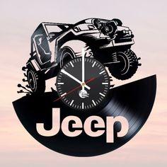 JEEP Handmade Vinyl Record Wall Clock Fan Car Design - VINYL CLOCKS