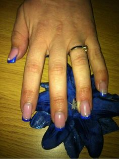 Gel nails, elongated nail bed, pink camouflage gel, deep purple glitter