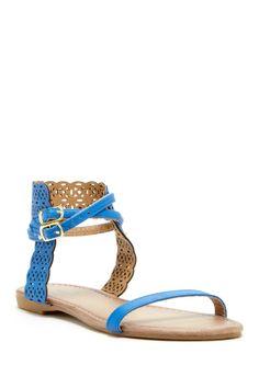 Carrini Laser Cutout Sandal