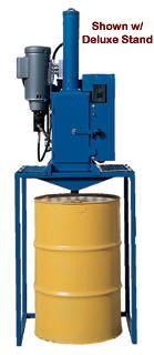 """Electric Hydraulic Oil Filter Crushers recycles used filters and oil quickly, safely and easily. The CrushMaster 2 is designed for heavy-duty use, and will accommodate both standard size filters and heavy-duty truck filters up to 16"""" high. Built-in operator convenience and safety features include waste oil drain connections, easily located on/off switch for safe operation and heavy-duty totally enclosed fan cooled 4HP motor delivering 37,500 pounds of crushing force."""