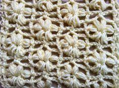 Punto flores puff tejido a crochet . point fleurs puff au crochet
