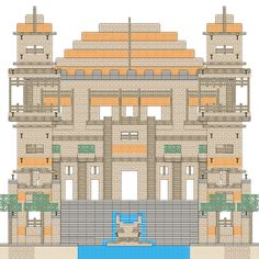minecraft blueprints layer by layer - Google Search