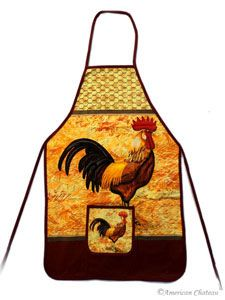 rooster and chicken decorations for kitchen | Kitchen Linens:Aprons & Linen Sets - AmericanChateau.com Decor and ...