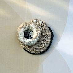 crochet sculptures and jewelry