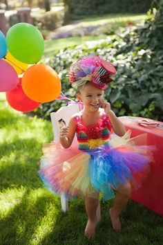 Bubbles the Clown Tutu Dress....costume by TheBerryNiceBoutique,