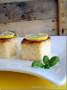 Υπέρ-αφράτο κέικ λεμονιού ~ Lemon Coffee Cake ~ @syntagesapospiti.blogspot.gr
