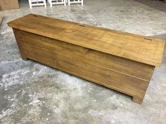 We love our Rustic Plank storage bench. It goes perfectly with our Rustic Plank tables. Cobwebs Furniture Company.