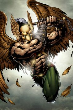 "Hawkman first appeared in Flash Comics #1 (1940), and was a featured character in that title throughout the 1940s. This Hawkman was Carter Hall, a reincarnation of an ancient Egyptian prince, Khufu, who had in the modern day discovered that the mysterious ""ninth metal"" could negate the effects of gravity and allow him to fly. An archaeologist by trade, Hall uses ancient weapons from the museum of which he was curator in his efforts."