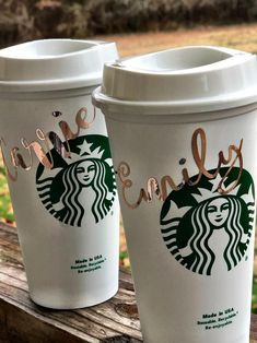 Personalized Starbucks Cup BPA FREE reusable tumbler / coffee / wedding / gift / birthday / party / travel / bridesmaid / your own text by MadeInHisImageShop on Etsy Starbucks Tumbler Cup, Personalized Starbucks Cup, Custom Starbucks Cup, Personalized Cups, Starbucks Gift Ideas, Coffee Tumbler, Tumbler Cups, Starbucks Cookies, Starbucks Drinks