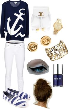 """""""Sailor Outfit !!"""" by aya-melhem ❤ liked on Polyvore"""