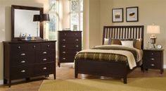 Merlot finish bedroom. Made in America.