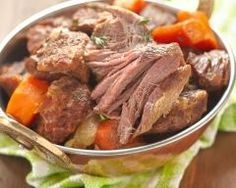 Healthy recipes easy beef pot roast 64 ideas for 2019 Irish Stew, Roast Beef Recipes, Slow Cooker Recipes, Cooking Chef, Healthy Cooking, Easy Healthy Recipes, Easy Meals, Salty Foods, Pot Roast