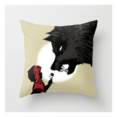 Red Riding Hood - Peace Offering Throw Pillow ($20) ❤ liked on Polyvore featuring home, children's room, children's bedding and throw pillows