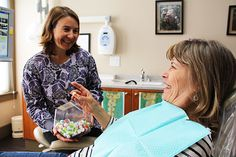 A patient being told about our restorative services at Smiles Dental Eugene.