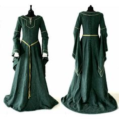 Photos of reproduction medieval dresses   Medieval wedding dresses