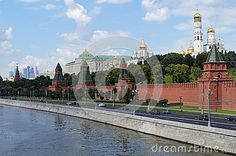 View of the Moscow Kremlin in the summer day