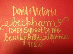 Modern Calligraphy Handwritten Addressed Envelopes for Wedding Invitations