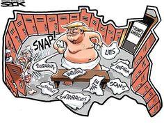 Best Donald Trump Cartoons: Trump Locker Room