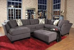 Looks similar to the new livingroom set we are getting...super comfy! In chocolate brown.