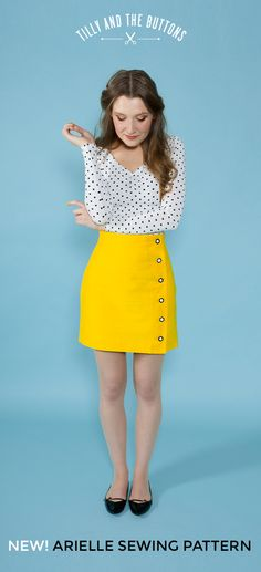 Arielle skirt sewing pattern - new from Tilly and the Buttons