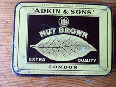 Vintage Tin bought in the UK Adkin & sons Nut by stockintrade