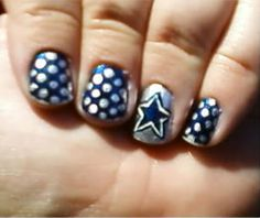 Football Team Nail Designs Sunday Series 1 Dallas Cowboys Crazy Nails