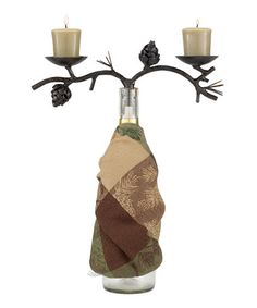 Another great find on #zulily! Pine Lodge Wine Bottle Topper #zulilyfinds
