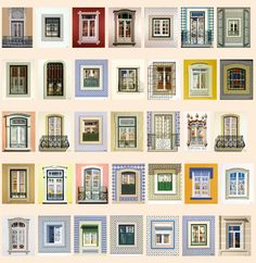 Works by Maluda. Windows of #Lisbon #Portugal