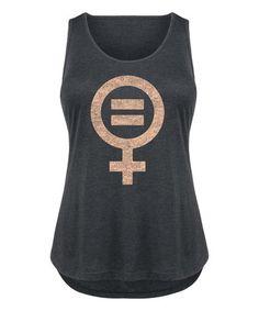 Loving this Black Feminist Symbol Equal Sign Tri-Blend Tank - Plus on #zulily! #zulilyfinds