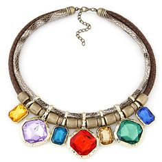 Toddler Multicolor Gemstone Decorated Simple Alloy Fashion Necklaces www.asujewelry.com