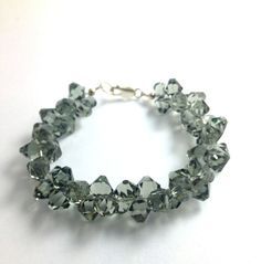 Grey Cluster  Bracelet Made With Swarovski by LittleBoxOfCrystals, $55.00