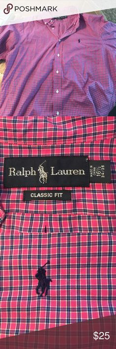 Men's Ralph Lauren long sleeve button up Perfect condition, classic fit. Sleeve length 34/35. Neck size 16.5 Ralph Lauren Shirts Casual Button Down Shirts