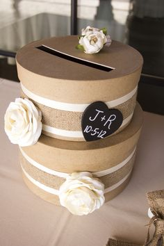 An Elegant Outdoor Rustic Wedding...card holder