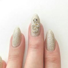 Nail Art Decoration - Snake / Gold