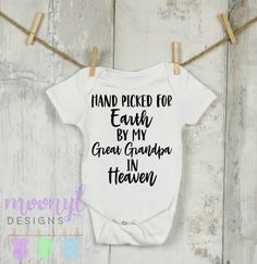 Protected By My Grandma in Heaven Baby Onesie\u00ae baby onesie personalized onesie custom onesie baby shower gift