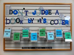 Don't Judge a Book By Its Cover...love this idea!