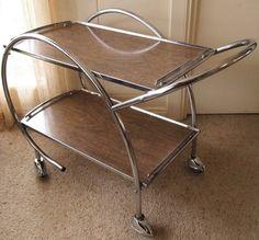Chrome Drinks TEA Trolley GO Fast Atomic Winged Wheels Very Funky Retro ART Deco in Adelaide, SA | eBay